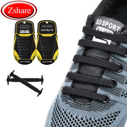 $enCountryForm.capitalKeyWord Australia - 16pcs   Sneakers Elastic Shoe laces High Quality Silicone Shoelaces Outdoor Men And Women Shoes Accessories Lazy Shoelace