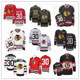 $enCountryForm.capitalKeyWord Australia - 2019 Custom Any Name Number Chicago Hockey Jersey Green 30 ED Belfour Men WOMEN  YOUTH Blackhawk Game Worn Hockey Jersey Shirt