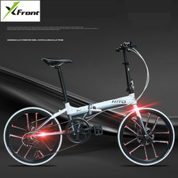 aluminum bmx bicycle Australia - New X-Front Road Bike Aluminum Alloy Frame 22 inch Wheel Dual Disc Brake Folding Bike Light Weight bmx Bicycle