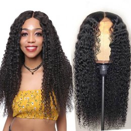 Wholesale eries natural black african american curly Full lace human hair for african american women medium length