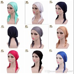 black sailor skull caps UK - New Women Night Sleeping Cap for Long Hair Fashion Ladies Smooth Soft Hair Bonnet Sleep Hat