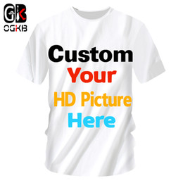 Wholesale customized tee shirts resale online - OGKB Customized T Shirts Sumer Tops Women men Personalized Custom Picture Tshirt Print Galaxy Space D T shirt Man Casual Tees MX200509