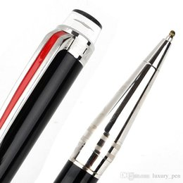 Business Pens Australia - Luxury Limited edition Smooth Black silver clip platinum-coated doue ballpoint pen rollerball pen stationery business supplies