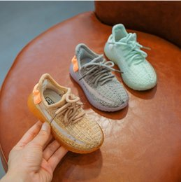 $enCountryForm.capitalKeyWord Australia - Fashion Boys shoes kids mesh knitted breathable outdoor casual shoes children lace-up Bows non-slip running shoes kids sneakers F7808