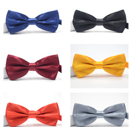 Quality Bowties Australia - High quality Fashion Man Women Solid printing Bow Ties Neckwear children bowties Wedding Bow Tie many colors