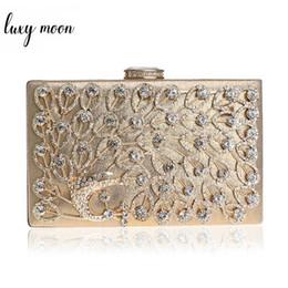$enCountryForm.capitalKeyWord NZ - LUXY MOON Peacock diamond evening bags rhinestone day clutch gold silver black evening clutch wedding bride party purse handbag #267076