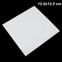 dvd storage bags Canada - White 12.5x12.5 cm Cover Favor Party CD Paper Board Envelope Storage Packing Box Kraft Paper High Quality Disc CD Sleeve Thick DVD Paper Bag
