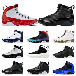 China Top quality Gym Red Dream It,Do It Racer Blue Men basketball shoes 9s UNC LA Bred Anthracite sports trainers Sneaker size 7-13 cheap racer boots suppliers