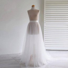 Evening Gowns Accessories Australia - 2019 Free Shipping Simple Sheer Overskirt Two Layers Tulle Skirts Cheap Wedding Accessories for Wedding Dress Evening Party Gown