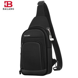 Sling Pack Fashion Australia - Balang Crossbody Bags Men Chest Bag Pack Shoulder Sling Bag For Men Large Fashion Casual Travel Waterproof Messenger Bolso Y19051802