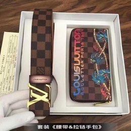 Suit walletS online shopping - 2019 M2237 New Large Zip Purse Men S Classic Brown Wallets Clutch Bags Men Belt Suit Wallets Purse Mini Clutches Belt Bags