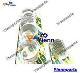 Engine Setting Australia - 3T82B crankshaft main and connecting rod conrod bearing set for Yanmar engine YM 2001 2010 2020 Tractors 3T82B-N Diesel Engine Parts