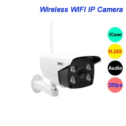 security camera onvif poe Australia - CCTV Security Camera 5MP 3MP 4pcs Array LED H.265 ICsee 25fps 128G SD ONVIF POE Two-Audio Onvif Waterproof