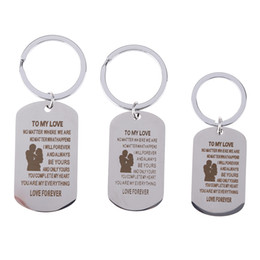 best gifts for family Australia - Stainless Steel Keychain Inspirational Gift For Family Best Friends Keyring 3 Sizes