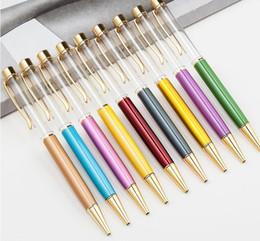 DHL Пустой Bling Bling 2-в-1 Тонкий Кристалл Алмазные Шариковые Ручки блеск Стилус Сенсорная Ручка DIY ручки 13 цвет SN2601 на Распродаже