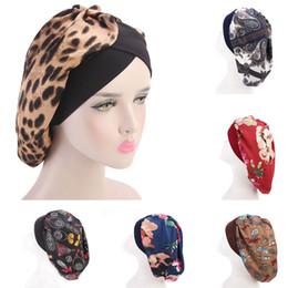 Wholesale Stocking Hats Australia - 2019 New Arrival Long Hair Care Women Fashion Satin Bonnet Cap Night Sleep Hat Silk Cap Head Wrap In stock Dropshipping