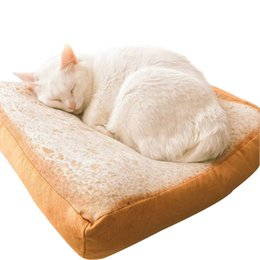 $enCountryForm.capitalKeyWord UK - New Design Home Bread Toast Cat Mattress Soft Wool Puppy Cushion Removable and Washable Small Chihuahua Dog Cat Bed Pet Bed Wholesale