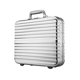 Frames aluminium online shopping - Mens Luxury Metal Briefcase Aluminium Magnesium Alloy Travel Case TSA Lock Aluminium Frame Women Briefcase Laptop Case Colors