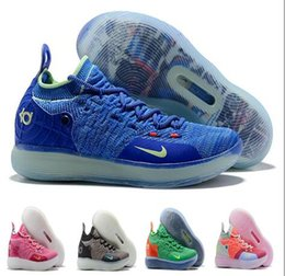 0f06f5d5e812 Men 2019 New KD 11 EP White Orange Foam Pink Paranoid Oreo ICE Basketball  Shoes Original Kevin Durant XI KD11 Mens Trainers Sneakers Size