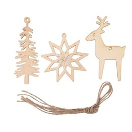 $enCountryForm.capitalKeyWord Australia - 3PCS  Lot Snowflake Star Santa Claus Christmas Tree Hanging Wooden Ornaments Party Christmas Decorations New2