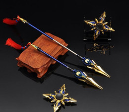 $enCountryForm.capitalKeyWord NZ - Around the king Zhao Yun engine heart telescopic weapon weapon fingertip gyro 25 cm alloy weapon Educational toys