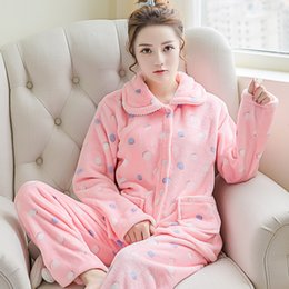 df8b1973a7 Winter Women Pyjama Australia - Lovely Women Soft Flannel Pajamas Set Winter  New Thicken Warm Home