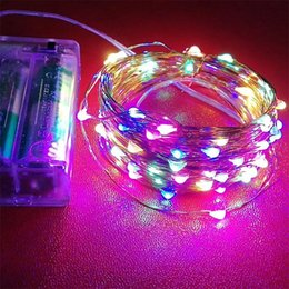 $enCountryForm.capitalKeyWord Australia - LED Battery Strings Mini LED Copper Wire String Light 3A Battery Operated Fairy Party Wedding Flashing LED Christmas String Light