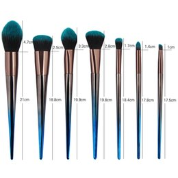 hairs travel kit Australia - 7 Cosmetic Graphics Makeup Brushes Set Kit Novo Picture Of Shadows Of Eyes Blush Eye Pincel Portable Travel Makeup Collection