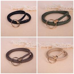 woven belts 2019 - Weaving Leisure Ladies Belt Dress Decoration Fashion Pure Color Leather Girdle PU Eco Friendly Anti Wear Factory Direct