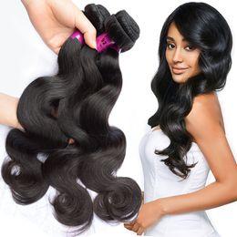 Hair bulking online shopping - Virgin Indian Brazilian Hair Bundles Bulk Body Wave Straight Curly Best Remy Peruvian Malaysian Human Hair Weave Weft Factory Supplier