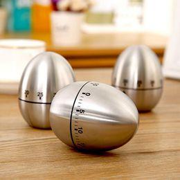 venda por atacado Chaleira de ovo de aço inoxidável Temporizador 1-60 Minuto Lembrete Mecânico Household Timers Temporizadores Cozinha Cozinhar Ferramenta de Cozimento HHA763