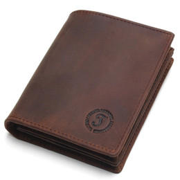 $enCountryForm.capitalKeyWord NZ - Rfid Blocking Short Wallets Crazy Horse Leather Wallet Men Genuine Leather Purse Card Vintage Male For Men Small Money Bag