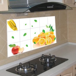 Kitchen Stove Australia - Removable Kitchen Tile Stickers Wall Stickers Wallpaper Self-Adhesive Home Decor Accessories Waterproof Defence Oil Sticker Wall Decoration