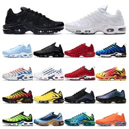 Wholesale 2020 TN plus se running shoes mens White black Hyper Psychic blue deluxe 3D Glasses Breathable fashion sports sneakers trainers size 40-46
