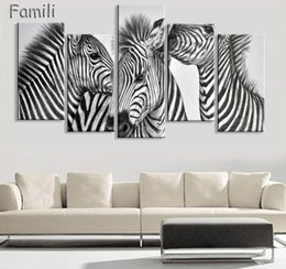 Zebra Print Art Australia - New Style Zebra Canvas Painting Pictures On The Wall Print Paintings Home Decor Canvas Wall Art Modular Photos No Frame