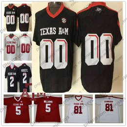 tannehill jerseys UK - 2019 Texas A&M Aggie 1 Kyler Murray 13 Mike Evans 17 Ryan Tannehill 85 Jalen Wydermyer Black Red White Men Youth Kid Jersey