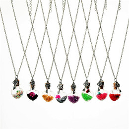 $enCountryForm.capitalKeyWord UK - Crystal Flower Key Heart Pendant Wish Bottle Current Bottle Drift Bottle Necklaces Necklace for women jewelry Christmas gift 161543