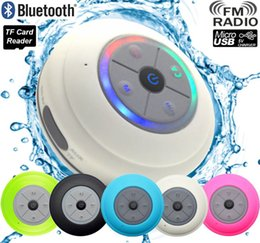 Phone Shower Australia - Portable Subwoofer Shower Waterproof Wireless Bluetooth Speaker Car Handsfree Call Music Suction Mic For IOS Android Phone