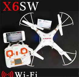 Professional Toy Helicopter Australia - Newest X6sw WIFI Fpv Toys Camera rc helicopter drone quadcopter professional drones with camera HD Drone DHL