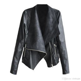 $enCountryForm.capitalKeyWord Canada - Fall Women Autunm Winter PU Leather Coat Black White Apricot Long Sleeve Outerwear Coat Sexy Lady Bomber Motorcycle Jackets T7