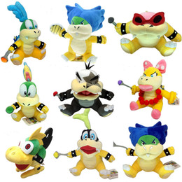 larry koopa plush toy Australia - 8pcs set Super Mario Koopalings Plush Toys Wendy Larry Iggy Ludwig Roy Morton Lemmy Bowser koopa Plush Toys