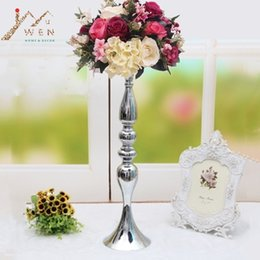 """$enCountryForm.capitalKeyWord Australia - 3 Colors Metal Candle Holders 50cm 20"""" Flower Vase Rack Candle Stick Wedding Table Centerpiece Event Road Lead Candle Stands Y19061804"""