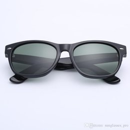 Glasses Sun Protection Australia - 2019 Raydtun best UV400 protection Plank black Sun glasses glass Lens G15 Green Sun glasses beach sunglass Glass sunglasses 52 55mm