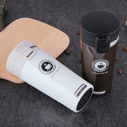 hot mugs Canada - Hot Fashion 380ml Stainless Steel Coffee Mugs Insulated Water Bottle Tumbler Thermos Cup Vacuum Flask Premium Travel Coffee Mug C19041302