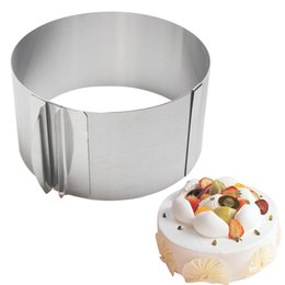 """Baking Mousse Ring UK - 6-12""""Retractable Round Mousse Circle Mold Stainless Steel Mousse Cake Ring Baking Cake Decorating Tools Baking Pastry Tools"""