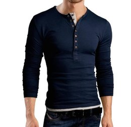 $enCountryForm.capitalKeyWord Australia - Fashion Design Casual Men's Slim Fit Long Sleeve T-Shirt Access Control Colorblock Double Breasted Design Men's Long-Sleeves T-Shirts Polos