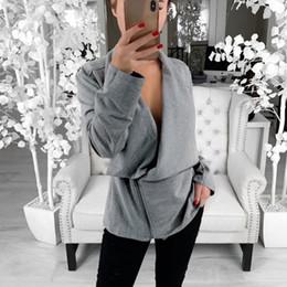 $enCountryForm.capitalKeyWord Australia - Female Loose Coat Autumn Women Slim Cool Jackets Asymmetric Zippers Slim Long Sleeve Sweatshirt Irregular Fashion Outwear
