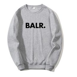 Wholesale grey hoodie online – oversize 2020 BALR New Men s Clothing Sweatshirt Hoodie Women s Pullover Top Autumn Designer Hoodies Sweatshirt Color Grey Black Red Asian Size S XL