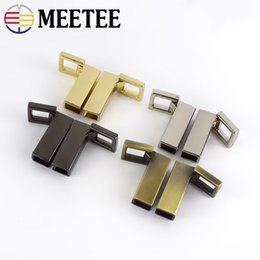 hardware connectors Australia - Meetee Metal Side Clip Buckles For Handbag Strap Clasp Screw Bag Handles Chain Hook Connector Bag Hanger Hardware Accessories
