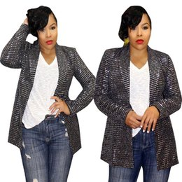 blazers NZ - Luxury Womens Designer Panelled Blazer Sliver Rhinestone Jacket Female Lapel Neck Slim Suit